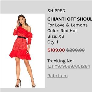 For love and lemons chianti dress